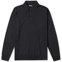 Barbour X Land Rover Long Sleeve Eastnor Polo Grey