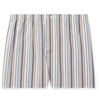 Zimmerli Striped Lyocell And Cotton Blend Pyjama Shorts Multi