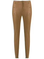 Talie Nk Leather Skinny Trousers Brown