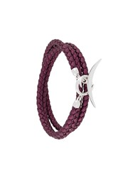 Shaun Leane Quill Wrap Bracelet Pink And Purple