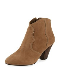 Ash Gang Suede Pointed Toe Bootie Nuts Taupe Nuts Brown