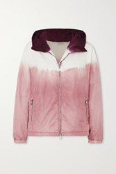 Moncler Tie Dyed Hooded Nylon Jacket Pink