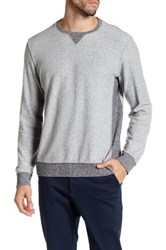 Velvet By Graham And Spencer Long Sleeve Contrast Sweater Gray