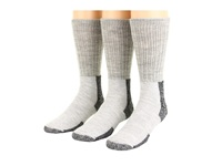 Thorlos Thick Cushion Hiking Wool Blend 3 Pack Gray Black Crew Cut Socks Shoes