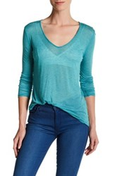 Zadig And Voltaire Wild Chine Long Sleeve Tee Blue