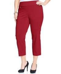 Alfani Plus Size Pull On Capri Pants Only At Macy's Real Red