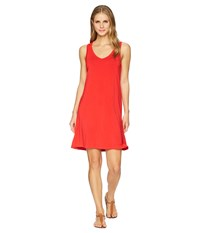 Tribal Solid Jersey Strappy Back Sleeveless Dress Scarlet Red