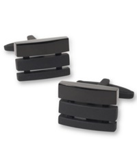 Kenneth Cole Reaction Cutout Cufflinks Black