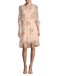 B Collection By Bobeau Ember Ruched Sleeve Floral Dress Botanical