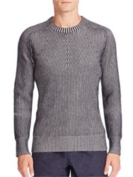 Cadet Two Tone Cashmere Blend Sweater Navy