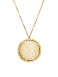 Lord And Taylor 14K Yellow Gold Round Pendant Necklace