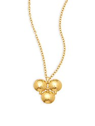 Gurhan 24K Yellow Gold Triple Pendant Necklace