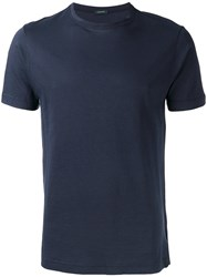 Zanone Crew Neck T Shirt Blue