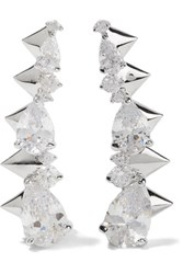 Noir Jewelry Arctic Ice Silver Tone Crystal Earrings One Size