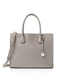 Michael Michael Kors Mercer Convertible Large Leather Tote Cement Gray Gold
