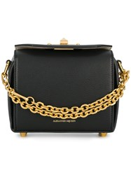 Alexander Mcqueen Box Shoulder Bag Leather Metal Black