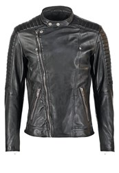 Freaky Nation Crossover Leather Jacket Black