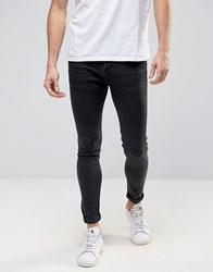 Selected Homme Plus Jeans In Skinny Fit Grey Denim Dark Grey