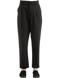 Damir Doma 18.5Cm Crispy Cotton Blend Pants Black