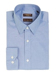Corsivo Nelli Pindot Shirt With Classic Collar Light Blue