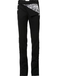 Monse Buttoned Laterals Straight Trousers Black