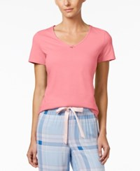 Nautica V Neck Pajama Top Conch Shell Pink