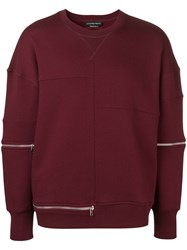 Alexander Mcqueen Zip Trim Sweatshirt Red