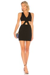 By The Way Isabel Criss Cross Cut Out Dress Black