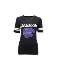 Soffe Women's Kansas State Wildcats Football T Shirt Black
