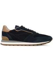 Brunello Cucinelli Panel Lace Up Sneakers Blue