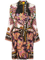 Etro Floral Print Dress Silk Viscose