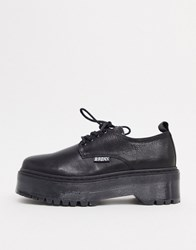 Bronx Leather Chunky Lace Up Shoe Black