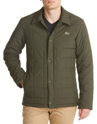 Lacoste Long Sleeve Quilted Jacket Olive