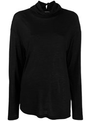 Ann Demeulemeester Deconstructed Knit Sweater Black