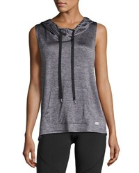 Marika Tek Britney Cross Back Hoodie Light Gray