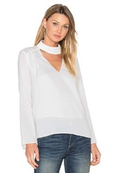 Lucy Paris Sylvia V Neck Top White