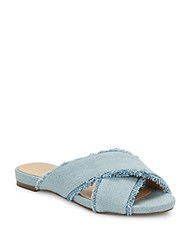 Saks Fifth Avenue Rochelle Crisscross Denim Sandals Blue