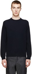 A.P.C. Navy Cashmere Knit Sweater