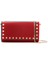 Valentino Gravami Rocketed Chain Wallet Red