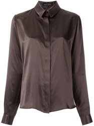 Gloria Coelho Silk Shirt Women Silk P Brown