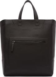 Maison Martin Margiela Black Leather Tote Bag