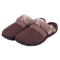 Totes Woodland Mule Slippers Brown