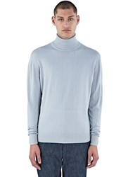 Aiezen Ribbed Roll Neck Sweater Grey