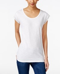 Styleandco. Style And Co. Petite Cap Sleeve T Shirt Only At Macy's Bright White