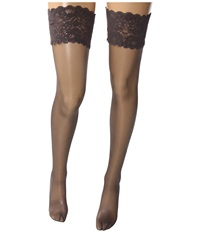 Wolford Satin Touch 20 Stay Up Thigh Highs Steel Stealth Gray Stealth Gray Women's Thigh High Socks Shoes