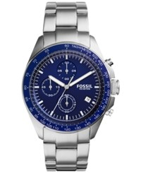 Fossil Men's Chronograph Sport 54 Stainless Steel Bracelet Watch 44Mm Ch3030 Silver
