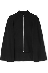 Givenchy Wool And Cashmere Blend Cape Cardigan Black