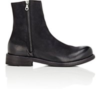Barneys New York Men's Suede Ankle Boots Black