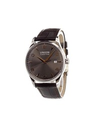 Union Glashutte 'Noramis Datum' Analog Watch Stainless Steel