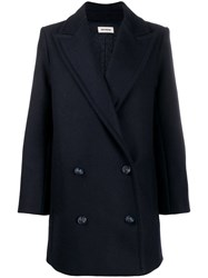 Zadig And Voltaire Motty Stud Detail Coat Blue